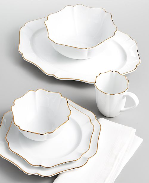 Martha Stewart Collection Baroque Dinnerware Collection, Created for Macy's