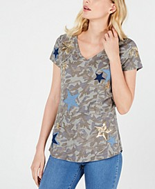 INC Camo & Stars T-Shirt, Created for Macy's