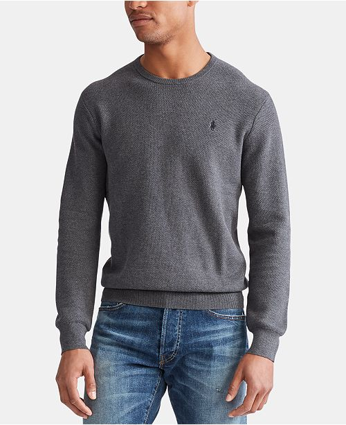 Polo Ralph Lauren Men's Cotton Textured Crewneck Sweater