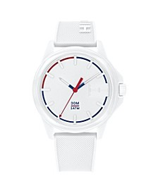 Mens White Silicone Strap Watch 42mm