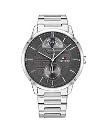 Mens Stainless Steel Bracelet Watch 44mm, Created for Macys