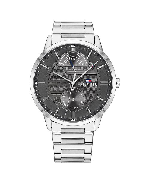 Tommy Hilfiger Mens Stainless Steel Bracelet Watch 44mm, Created for Macys