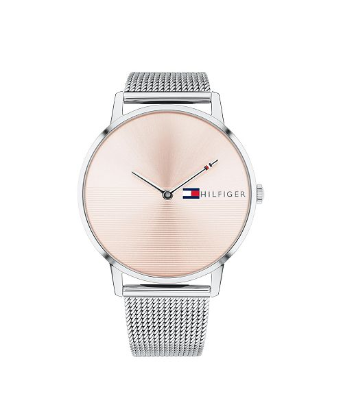 Tommy Hilfiger Womens Stainless Steel Mesh Bracelet Watch 40mm , Created for Macys