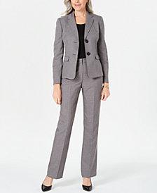 Le Suit Two-Button Pants Suit