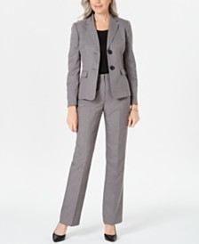 Le Suit Two-Button Pants Suit