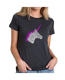 Women's Premium Word Art T-Shirt - Unicorn