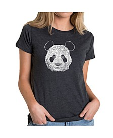 Women's Premium Word Art T-Shirt - Panda Face
