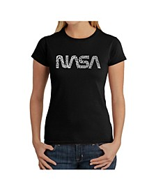 Women's Word Art T-Shirt - Worm Nasa