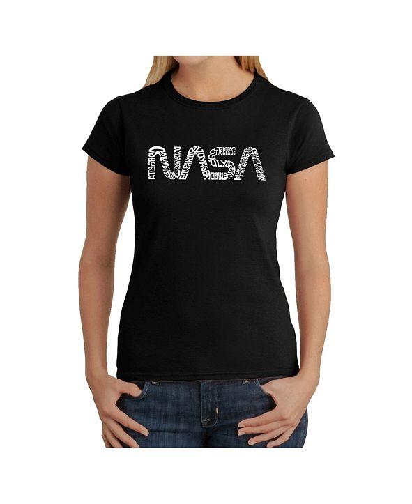 LA Pop Art Women's Word Art T-Shirt - Worm Nasa