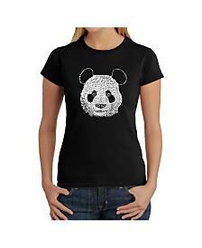 Women's Word Art T-Shirt - Panda Face