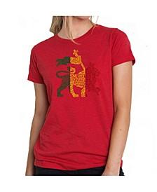 Women's Premium Word Art T-Shirt , One Love