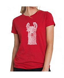 Women's Premium Word Art T-Shirt - Llama