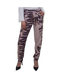 Celestial Blue Soft Slouchy Printed Pull-On Pant