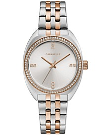 Women's Crystal Two-Tone Stainless Steel Bracelet Watch 32mm