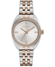 Caravelle Designed by Bulova Women's Crystal Two-Tone Stainless Steel Bracelet Watch 32mm