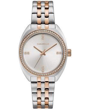 Designed by Bulova Women's Crystal Two-Tone Stainless Steel Bracelet Watch 32mm