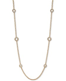 """Gold-Tone Love Knot 42"""" Statement Necklace"""