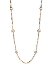 "Lauren Ralph Lauren Gold-Tone Love Knot 42"" Statement Necklace"