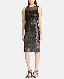Sequined Sleeveless Cocktail Dress
