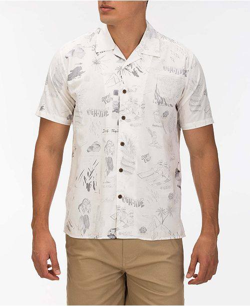 Hurley Men's Doom Classic-Fit Printed Camp Shirt