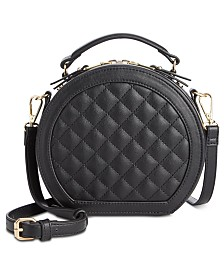 I.N.C. Rilie Quilted Circle Top-Handle Crossbody, Created for Macy's