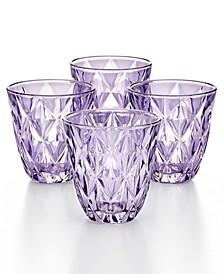 CLOSEOUT! Purple Diamond Double Old-Fashioned Glasses, Set of 4, Created for Macy's