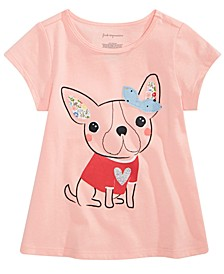 Toddler Girls Puppy-Print Cotton T-Shirt, Created for Macy's