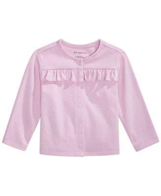 Baby Girl Pindot Cardigan, Created for Macy's