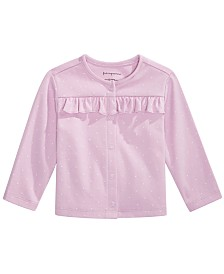 First Impressions Baby Girl Pindot Cardigan, Created for Macy's