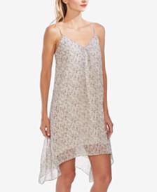 Vince Camuto Floral-Print Handkerchief-Hem Dress