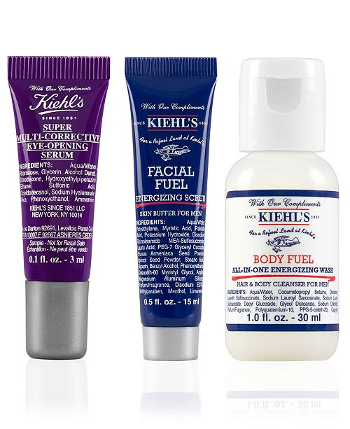 Receive a FREE 3pc Men's Skincare Gift with $65 Kiehl's Purchase!