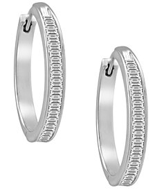 Diamond Hoop Earrings in Sterling Silver (1 ct. t.w.)