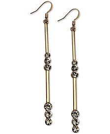 GUESS Crystal Linear Drop Earrings