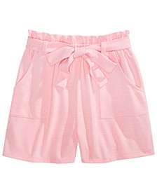 Big Girls Tie-Waist Shorts