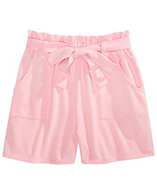 Monteau Big Girls Tie-Waist Shorts