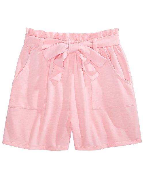 Monteau Big Girls Tie-Waist Shorts
