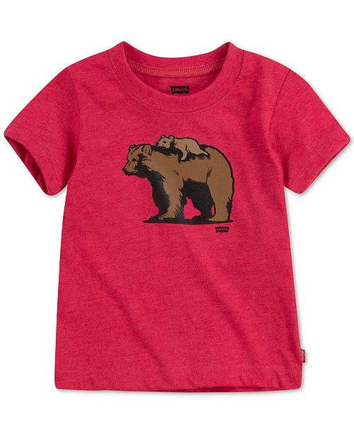 new product 7c444 49ecf DADDY & ME COLLECTION Baby Boys Papa Bear & Baby Bear Graphic T-Shirt