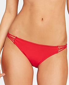 Juniors' Simply Solid Cheeky Bikini Bottoms