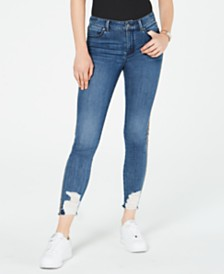 Rewash Juniors' Fashion Frankie Destructed Skinny Ankle Jeans