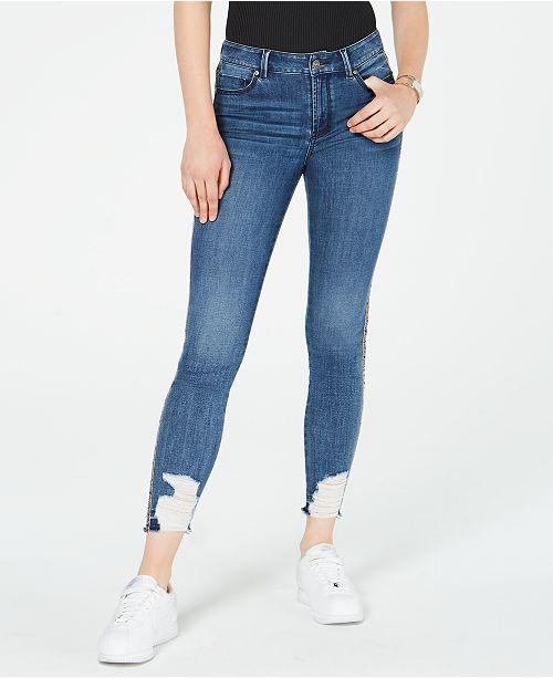 Rewash Juniors' Fashion Frankie Destructed Skinny Ankle Jeans