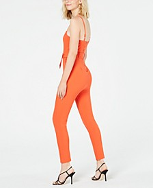 Juniors' Printed Cutout Jumpsuit, Created for Macy's