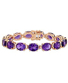 Amethyst (36 ct. t.w.) Tennis Bracelet in 18k Rose Gold over Sterling Silver