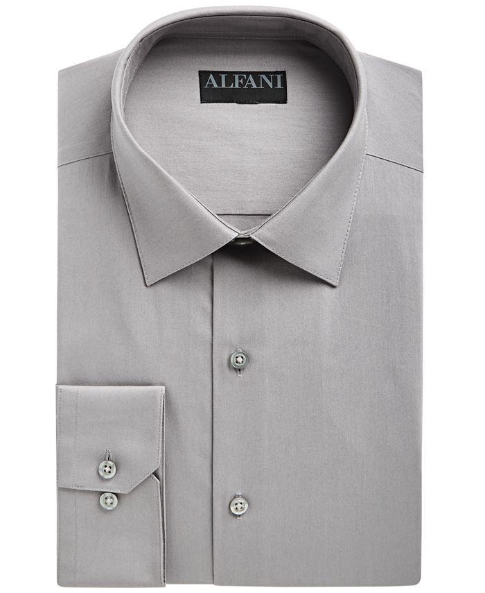 Alfani - Men's Slim-Fit Performance Stretch Easy-Care Solid Dress Shirt