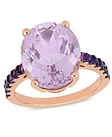 Amethyst (7-7/8 ct.t.w.) Ring in 18k Rose Gold over Sterling Silver