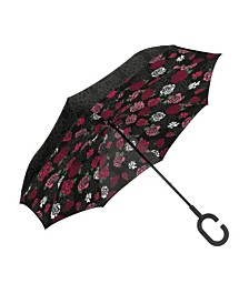 ShedRain UnbelievaBrella Reversible Dual-Print Umbrella