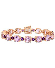 Amethyst (24-5/8 ct. t.w.) Tennis Bracelet in 18k Rose Gold over Sterling Silver