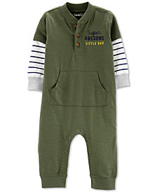 Carter's Baby Boys Layered-Look Cotton Coverall