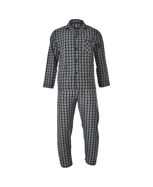 Hanes Platinum Hanes Men's Cvc Broadcloth Pajama Set