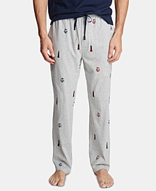 Men's Cotton Lighthouse-Print Pajama Pants