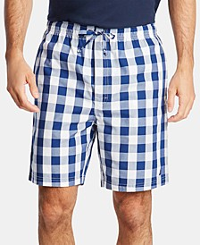 Men's Cotton Plaid Pajama Shorts